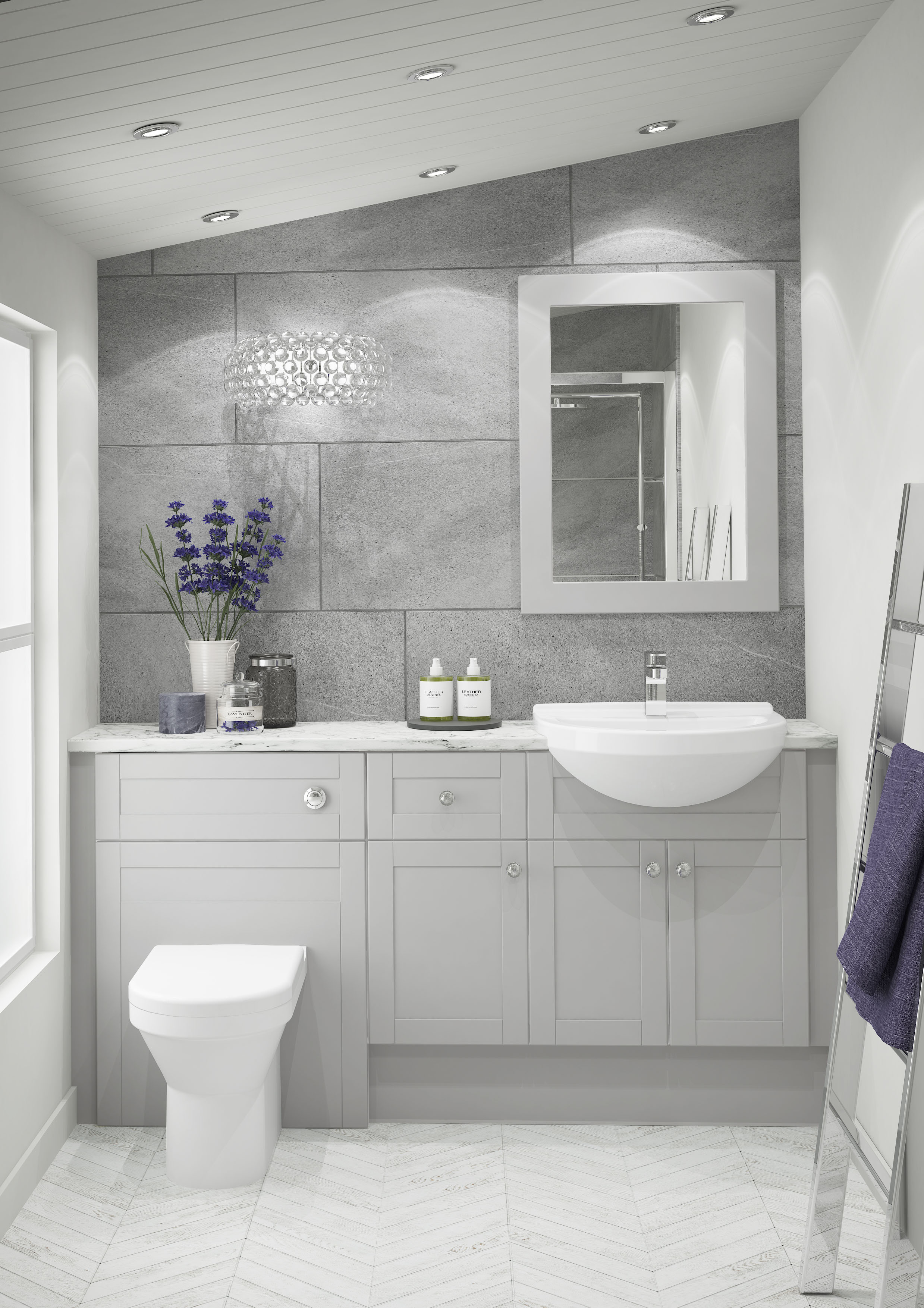 Atlanta Bathrooms | Shaker Pearl Grey